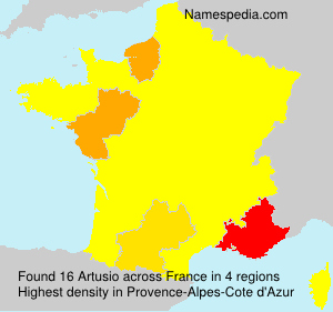 Surname Artusio in France