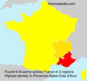 Surname Aruanno in France