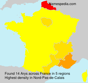 Surname Arys in France