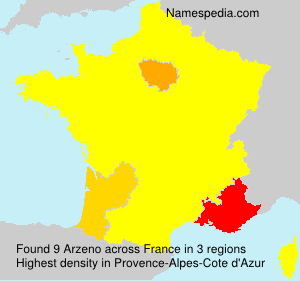 Surname Arzeno in France