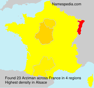 Surname Arziman in France