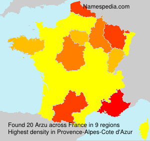 Surname Arzu in France