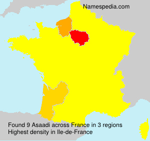 Surname Asaadi in France