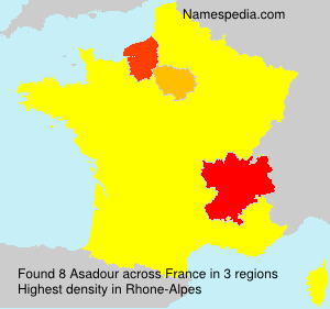 Surname Asadour in France