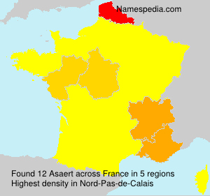 Surname Asaert in France