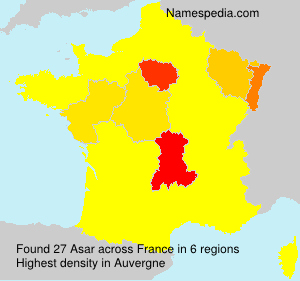 Surname Asar in France