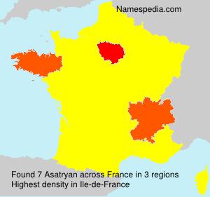 Familiennamen Asatryan - France