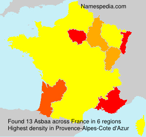 Surname Asbaa in France