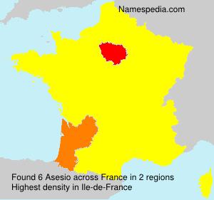 Familiennamen Asesio - France