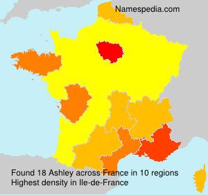 Surname Ashley in France