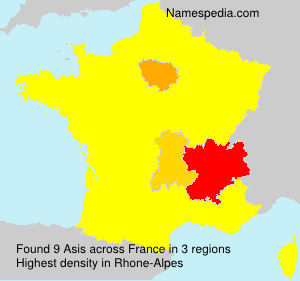 Surname Asis in France