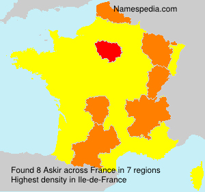 Surname Askir in France