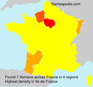Surname Asmane in France