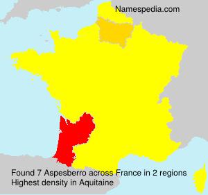 Surname Aspesberro in France