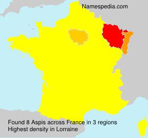 Familiennamen Aspis - France