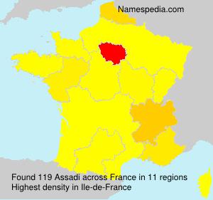 Surname Assadi in France