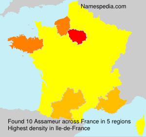 Surname Assameur in France