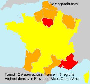 Surname Assen in France