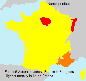 Surname Assenjee in France