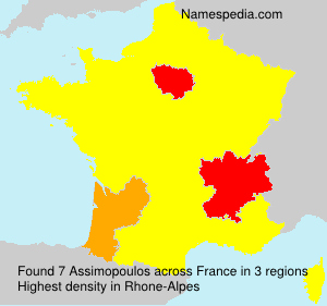 Surname Assimopoulos in France