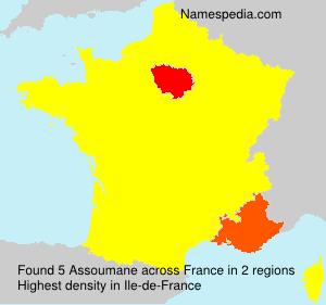 Familiennamen Assoumane - France