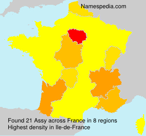 Surname Assy in France