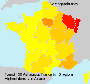 Surname Ast in France