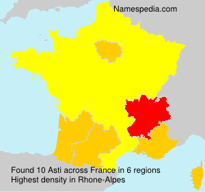 Familiennamen Asti - France