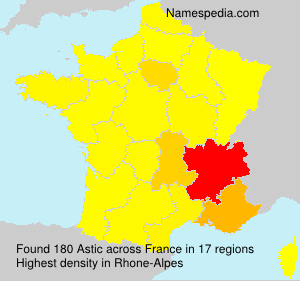 Surname Astic in France