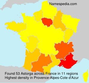 Familiennamen Astorga - France