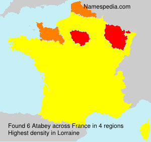 Surname Atabey in France
