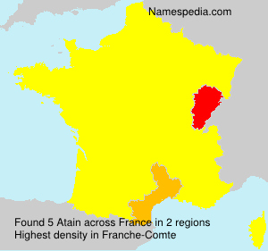 Surname Atain in France