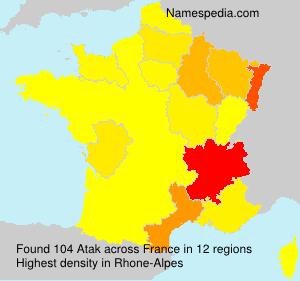 Surname Atak in France