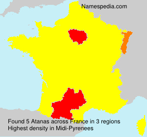 Surname Atanas in France