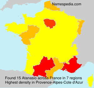 Surname Atanasio in France