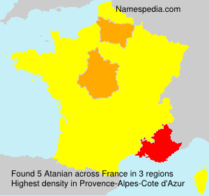 Surname Atanian in France