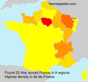 Surname Atar in France