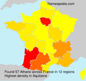 Surname Athane in France