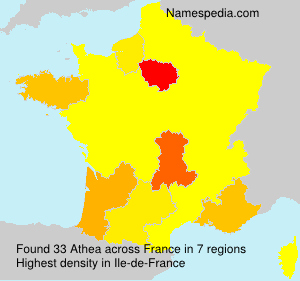 Surname Athea in France