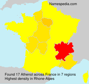 Surname Athenol in France