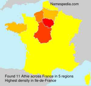 Surname Athie in France