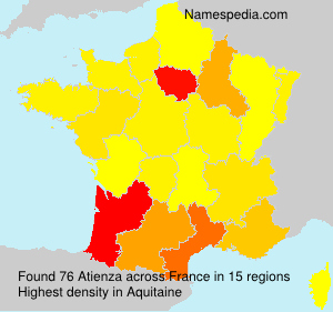Surname Atienza in France
