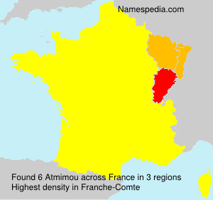 Surname Atmimou in France