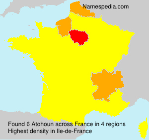 Surname Atohoun in France