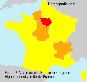 Surname Atsain in France
