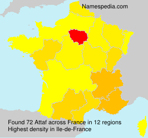 Surname Attaf in France