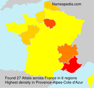 Surname Attala in France