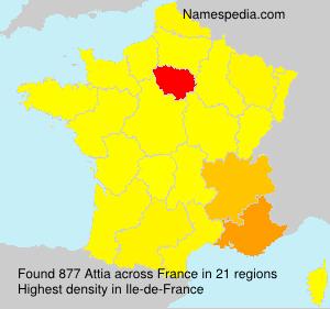 Surname Attia in France