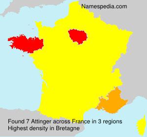 Surname Attinger in France