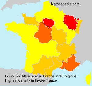 Familiennamen Atton - France